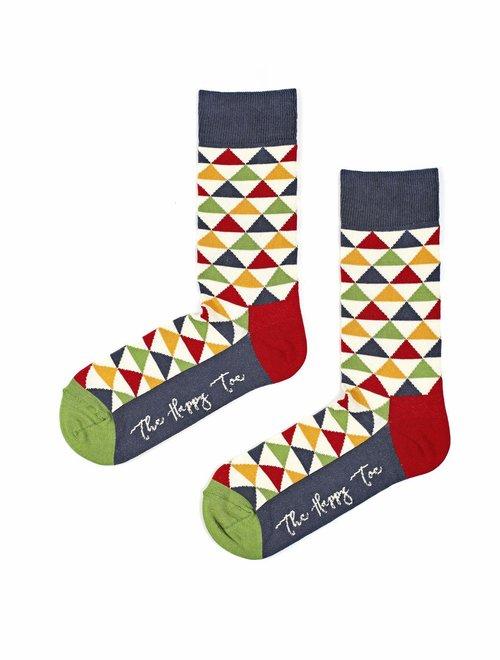 Sosete cu triunghiuri colorate The Happy Toe Pyramids Winter