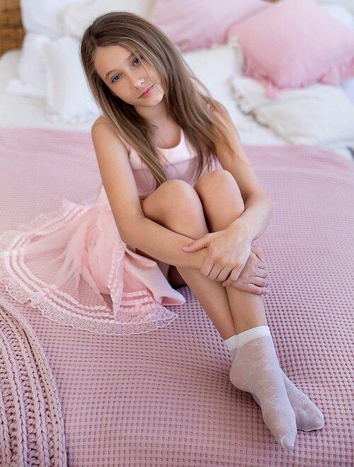 Sosete fete lycra cu model stelute Knittex Wiki 20 den