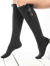 Sosete jambiere cu fundita lungi sub genunchi Socks Concept DZAL-01