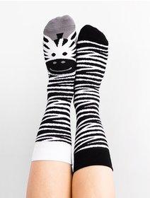 Sosete model unisex Nanushki Lady Zebra
