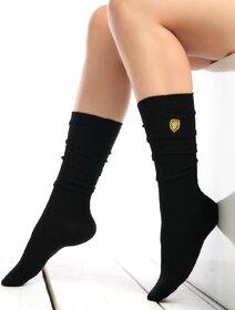 Sosete raiate lungi sub genunchi cu leu brodat Socks Concept SC-1893-2