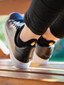 Sosete scurte negre cu model Socks Concept SC-1879