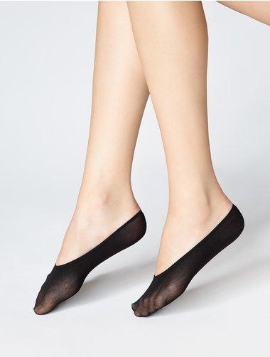 Set 2 perechi talpici pentru balerini din bumbac Marilyn Cotton 940
