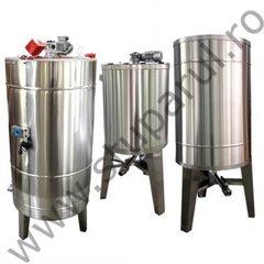 Bazin omogenizare miere lichida 1000 l cu agitator si incalzire Lyson