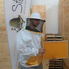 Masca apicola cu hanorac buzunare ergonomice