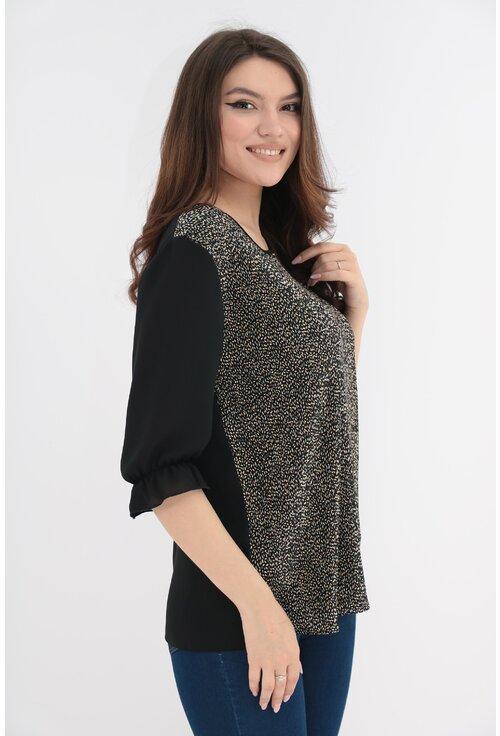Bluza cu buline mici si spatele negru