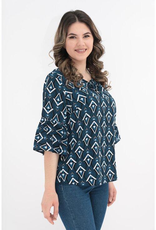 Bluza cu print geometric