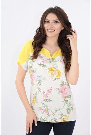 Bluza galbena cu print floral