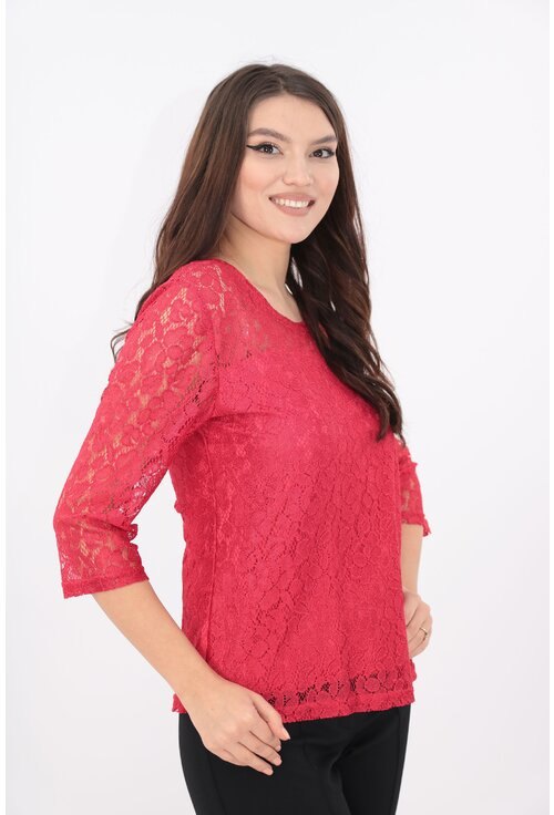 Bluza rosie din dantela