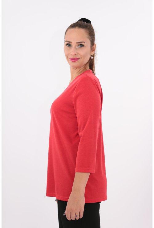 Bluza rosie din jerse