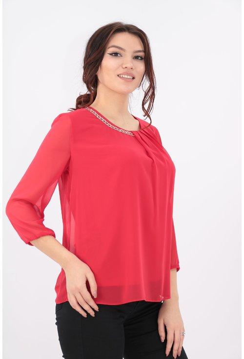 Bluza rosie din voal