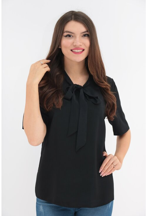 Bluza uni neagra cu funda