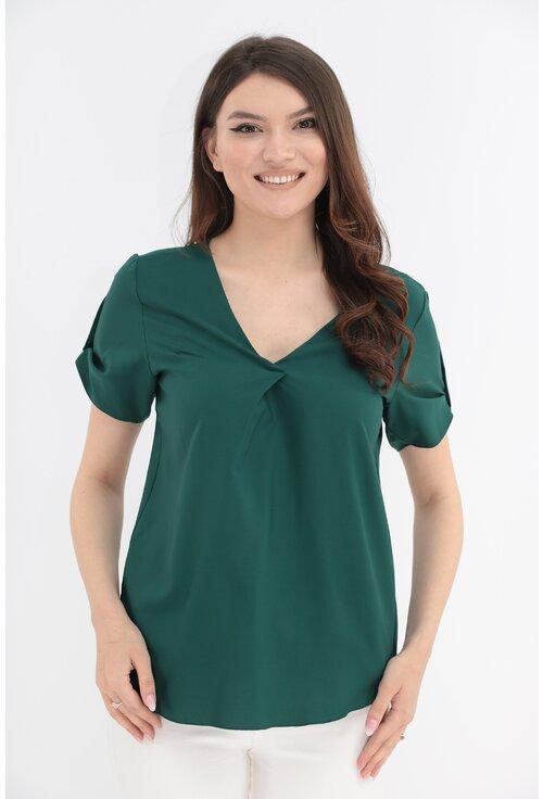 Bluza uni verde smarald