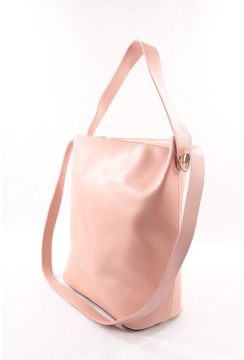 Geanta shopping roz pudra