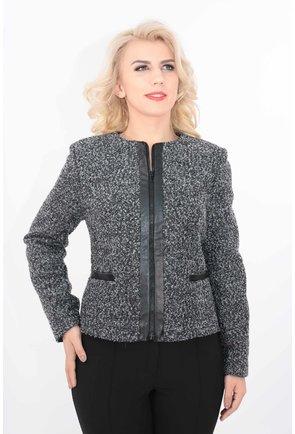 Jacheta neagra cu fermoar