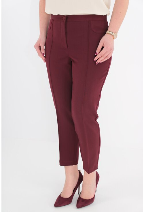 Pantaloni conici 7/8 bordo