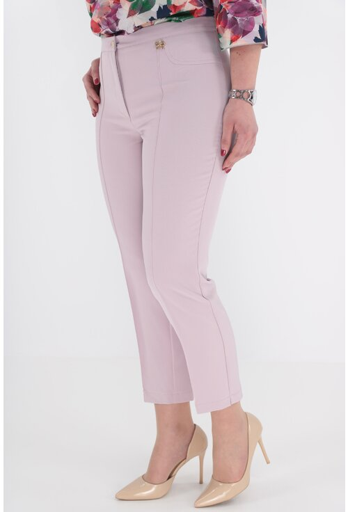 Pantaloni conici 7/8 lila