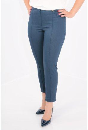 Pantaloni conici bleumarin