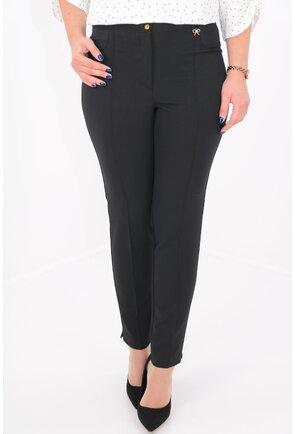 Pantaloni office din stofa neagra