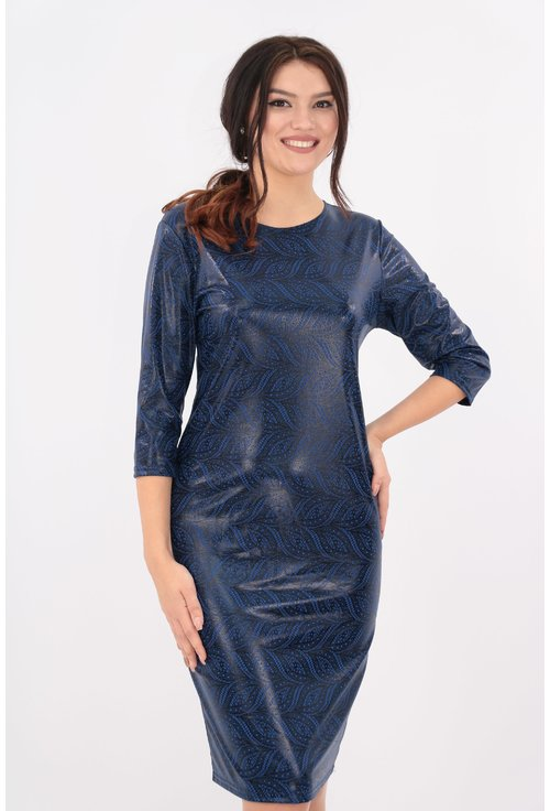 Rochie albastra cu sclipici