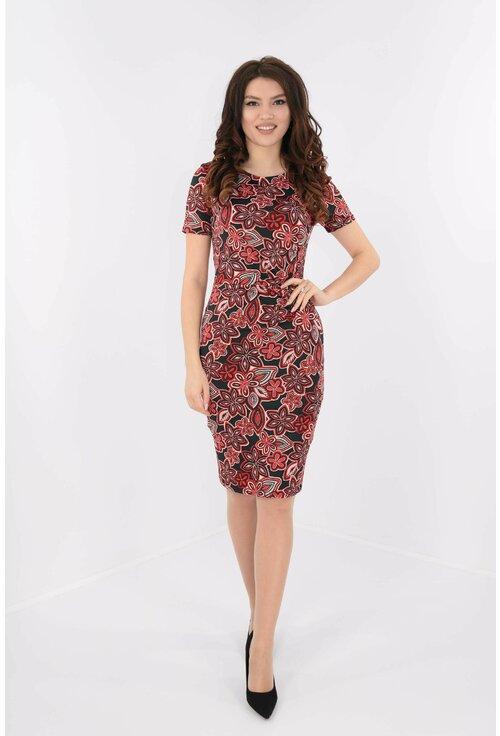 Rochie cu imprimeu floral rosu