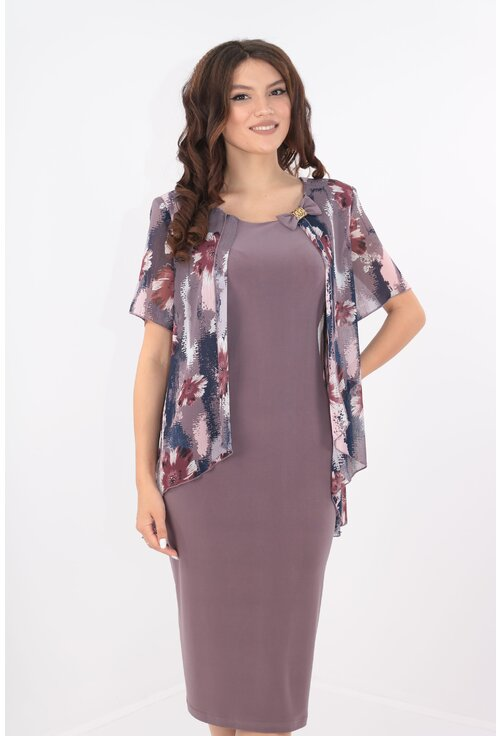 Rochie eleganta cu blazer imprimat