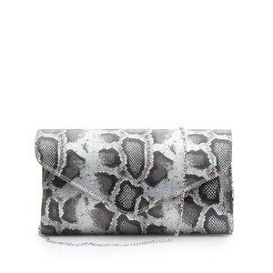 Geanta plic dama din piele naturala,Leofex - 4014 Gri metalizat box