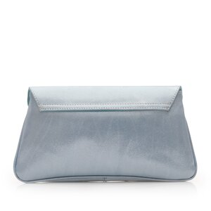 Geanta plic dama din piele naturala,Leofex - 4016 Azur box