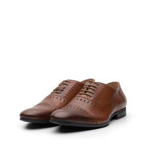 Pantofi barbati din piele naturala, Leofex - 890 cognac box