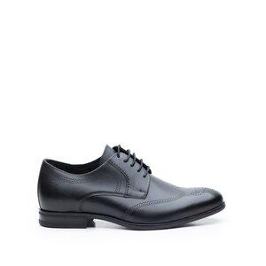 Pantofi barbati eleganti din piele naturala,Leofex-583 Negru Box