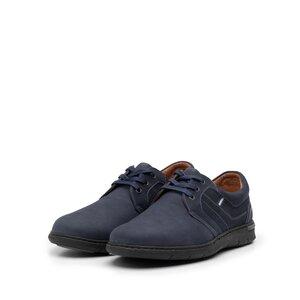 Pantofi  casual barbati din piele naturala, Leofex -  521 Blue nabuc