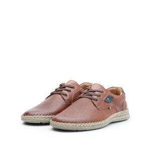 Pantofi casual barbati din piele naturala, Leofex - 597 Cognac Box