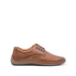 Pantofi casual barbati din piele naturala, Leofex - 918 Cognac Box