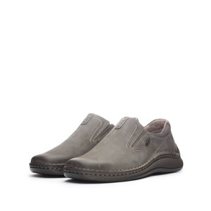 Pantofi casual barbati din piele naturala, Leofex - 919 Gri nabuc