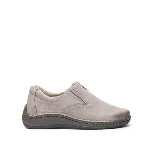 Pantofi casual barbati din piele naturala, Leofex - 919 Taupe nabuc