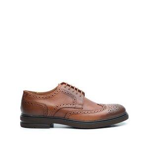 Pantofi casual barbati din piele naturala, Leofex - 996 Cognac Box