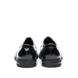 Pantofi casual barbati din piele naturala Leofex - 998 Negru naplac