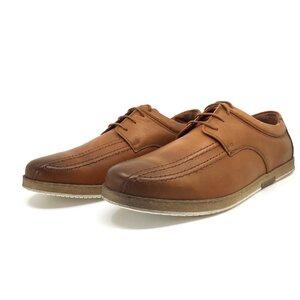 Pantofi casual barbati din piele naturala,Leofex - Mostra Matei 2 cognac box