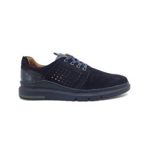 Pantofi casual barbati din piele naturala, Leofex - Mostra Ovidiu blue velur