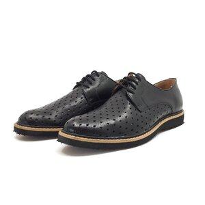 Pantofi casual barbati din piele naturala, Leofex - Mostra Rares negru box