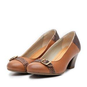 Pantofi casual  dama din piele naturala - 433 cognac
