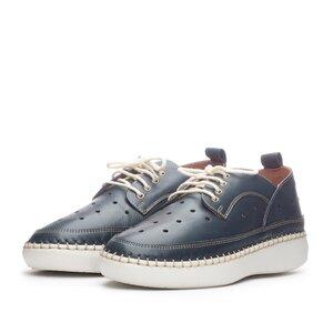 Pantofi casual dama din piele naturala, Leofex - 242 Blue Box