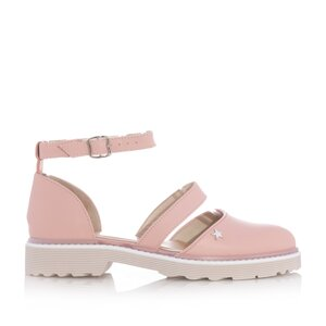 Pantofi casual dama din piele naturala,Leofex - 301 Roz box