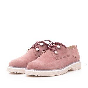 Pantofi casual dama din piele naturala,Leofex - 346 Plamaniu velur