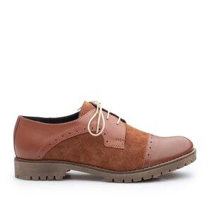 Pantofi casual dama din piele naturala, Leofex - 399 taupe box