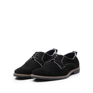 Pantofi casual din piele intoarsa - 781  negru velur
