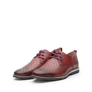 Pantofi casual din piele naturala - 886 Visiniu Blue