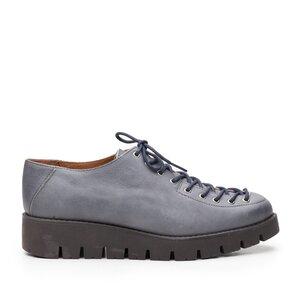 Pantofi cu siret pana in varf Leofex- 194 Gri Box