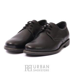 Pantofi  copii din piele naturala, Leofex - 578 negru box