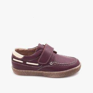 Pantofi din piele naturala – 122-1 mocasin bordo box